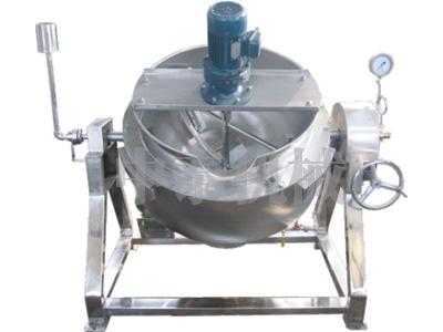 可倾燃气导热油搅拌夹层锅